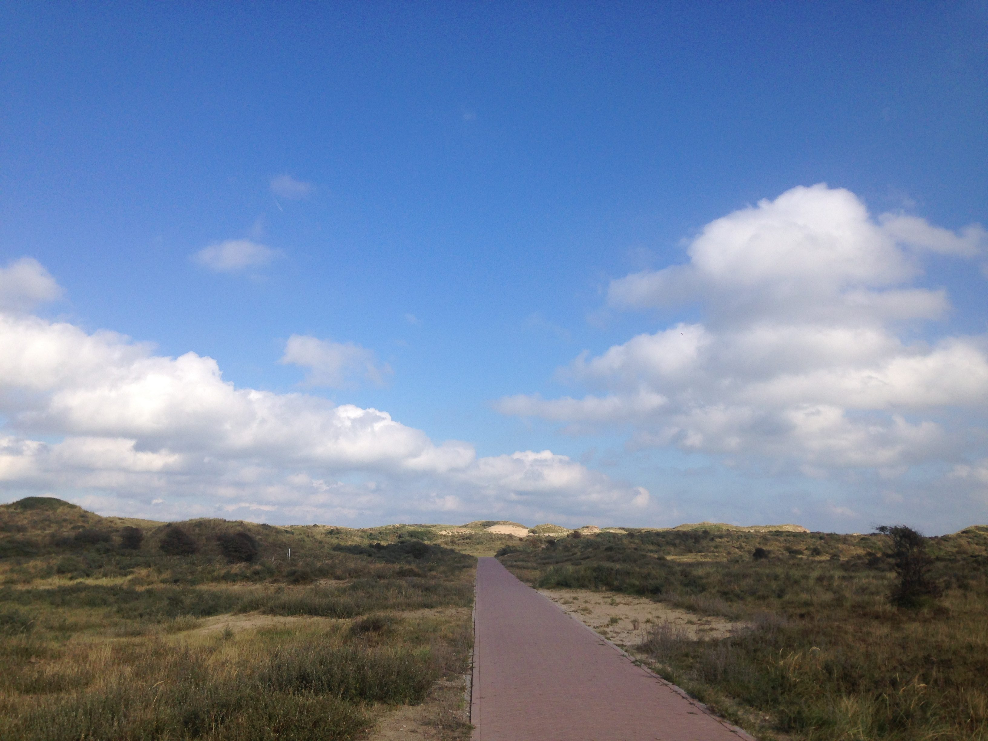 Cycle path to the beach