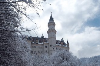 Neuschwanstein Castle in the snow