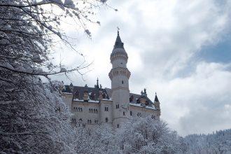 Neuschwanstein Castle in the snow