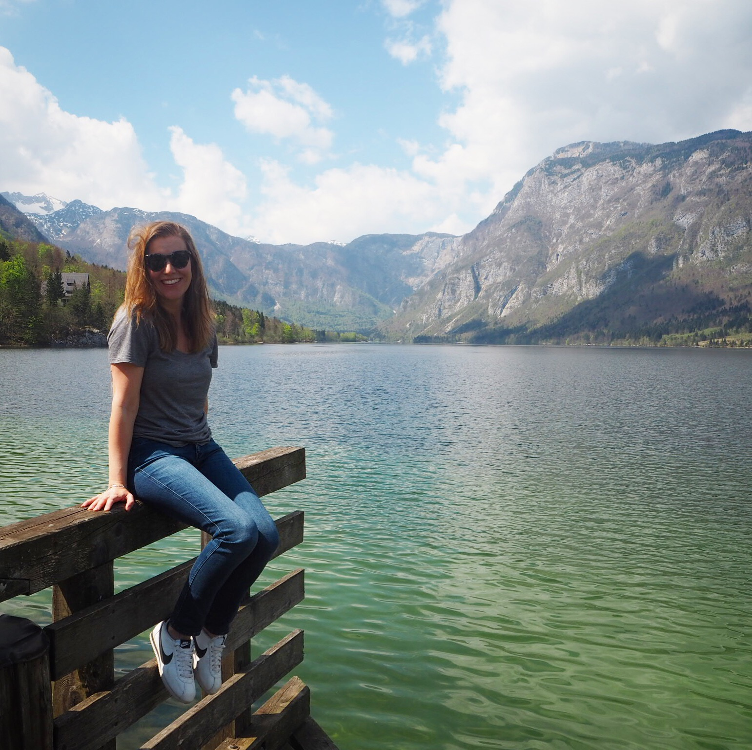 Making Here Home sitting by Lake Bohinj
