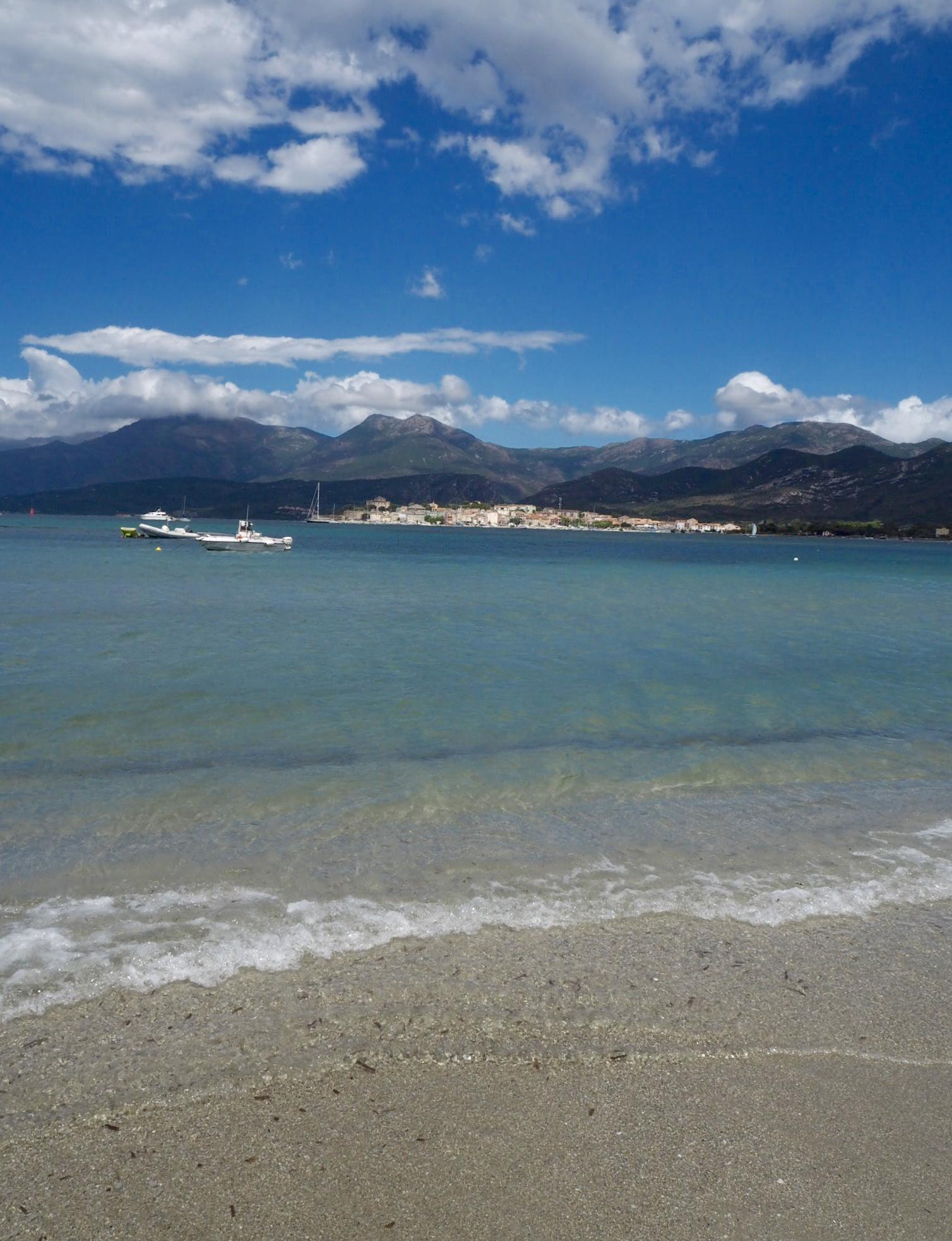 Corsica beach saint Florent